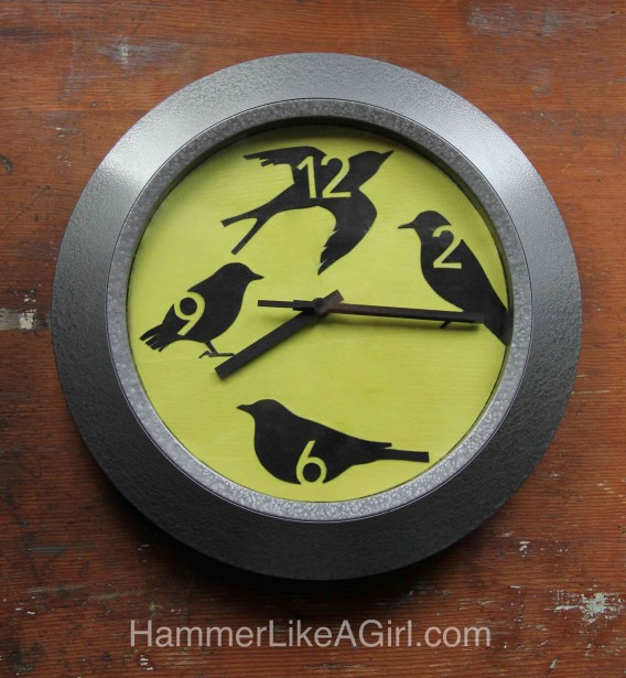 Spring time decoupage bird clock - give an old clock a facelift!