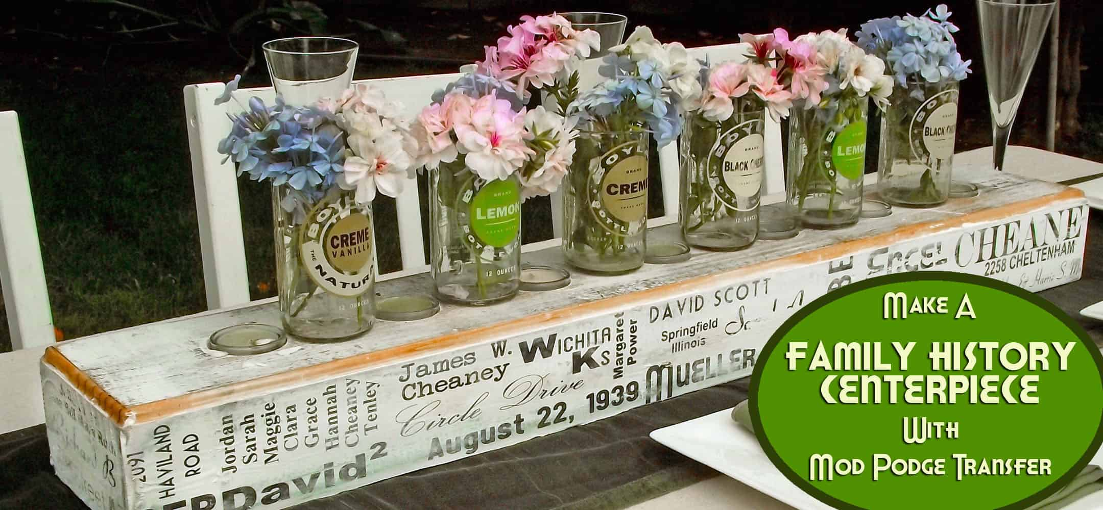 Amazing Diy Family Reunion Centerpiece With Rustic Flair Mod Podge Download Free Architecture Designs Embacsunscenecom