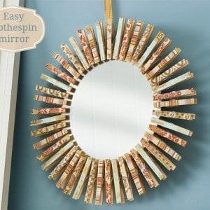 How to make a clothespin mirror
