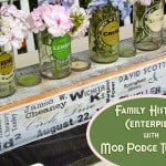 Make a photo transfer centerpiece for a family gathering