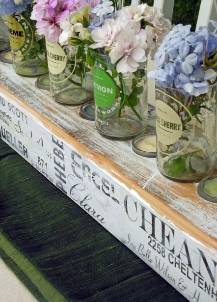 Make a Mod Podge photo transfer centerpiece for a family gathering