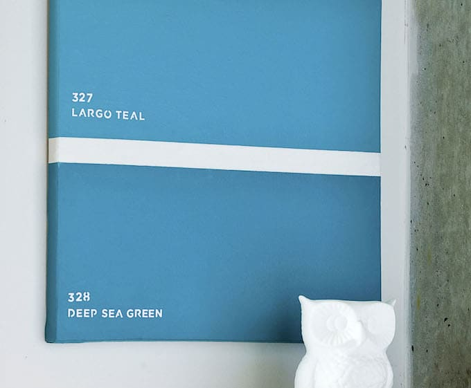 Turn a rectangle canvas into a paint chip