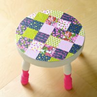 Decoupage a Patchwork Stool the Easy Way