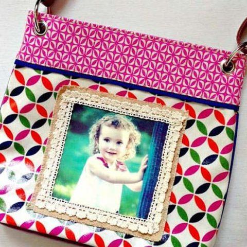 Decoupaged purse using photo transfer medium
