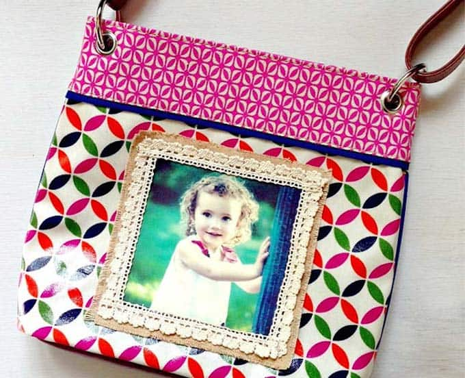 Personalized photo purse using photo transfer medium