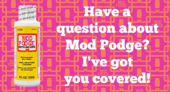 Do you have a question about Mod Podge? I've got you covered! Check out the answers to popular decoupage questions here! Click through for answers.