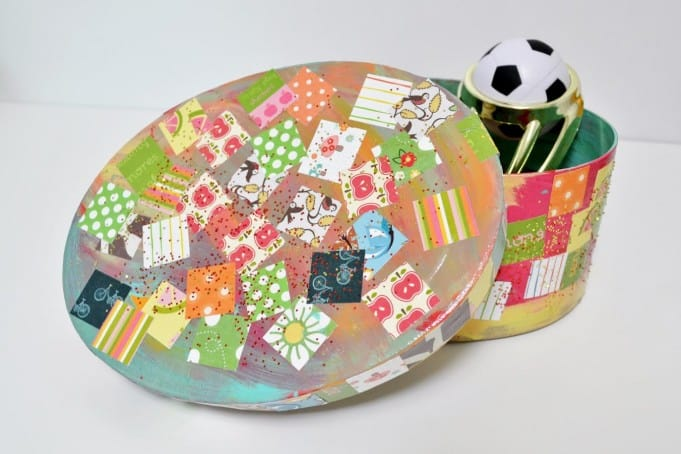 Easy kids craft- decoupage treasure box