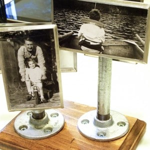 Industrial photo display for Father&#821...