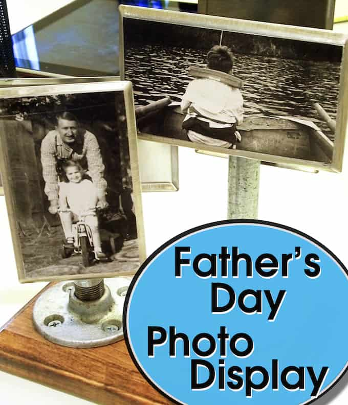 Industrial photo display for Father's Day
