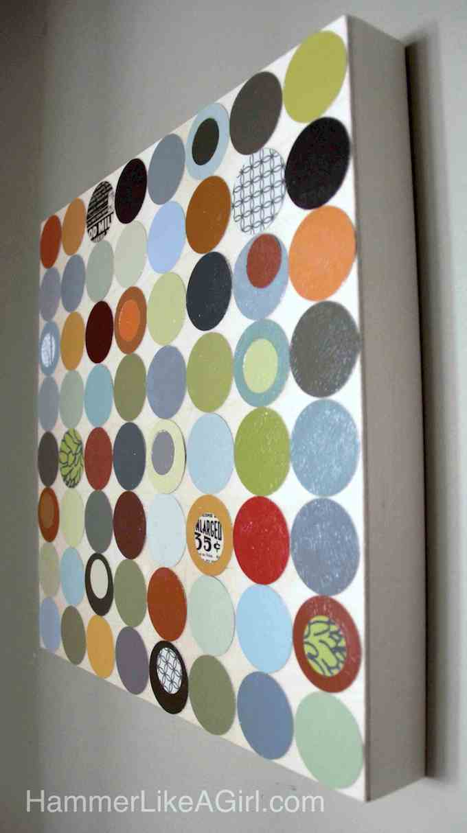 Polka Dot Paint Swatch Art