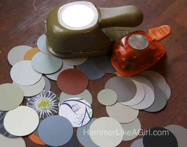 paint chips and circle punches