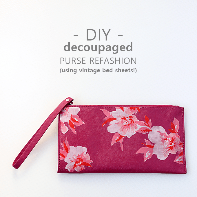 DIY vintage floral purse refashion