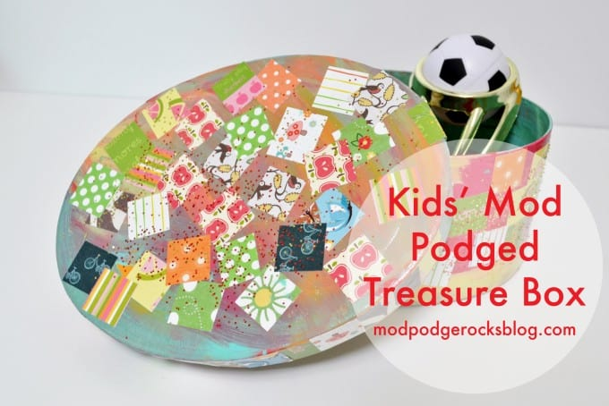 Easy Kids Craft Decoupage Treasure Box , Mod Podge Rocks