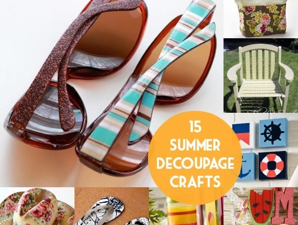 15 decoupage crafts that are perfect for summer