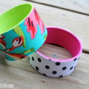 Bracelets made from recycled tape rolls
