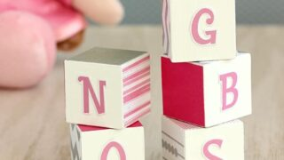 DIY Alphabet Blocks for Nursery Decor