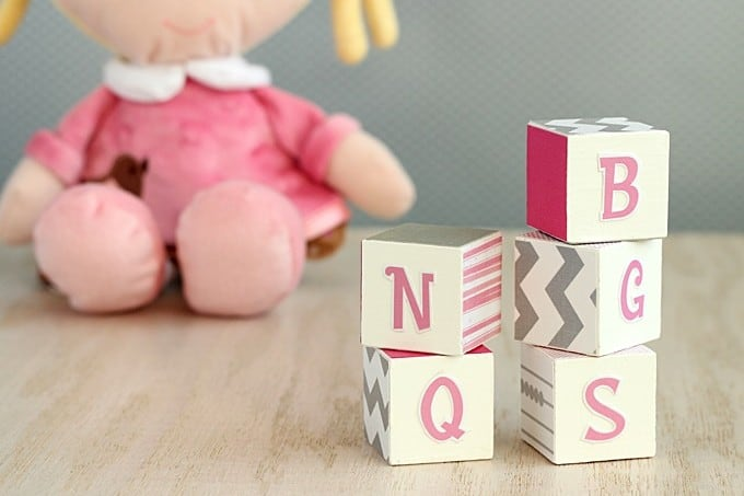 DIY alphabet blocks - easy kids craft