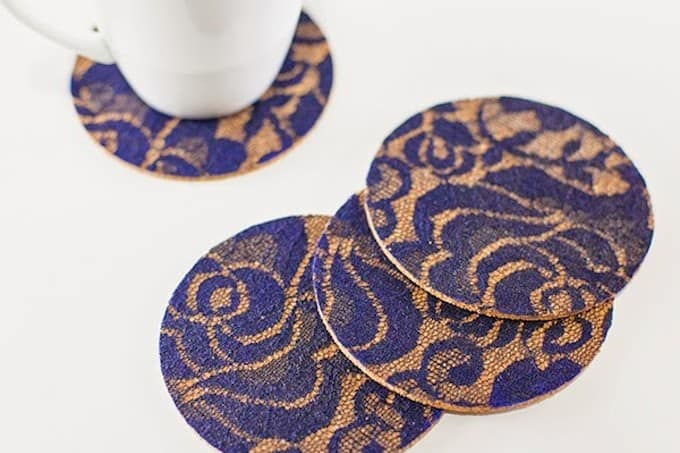 Lacy and sophisticated DIY coasters