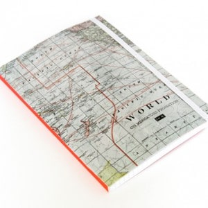 Easy map craft: notebook makeover
