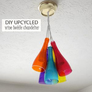 DIY chandelier using Mod Podge Sheer Col...