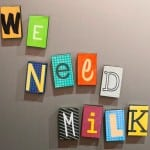 DIY magnets - ransom notes