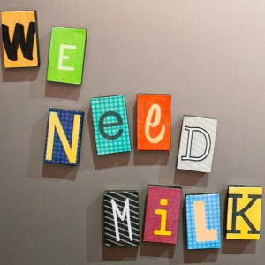 DIY magnets: ransom notes