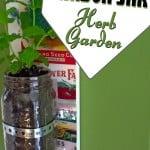 DIY mason jar hanging herb garden