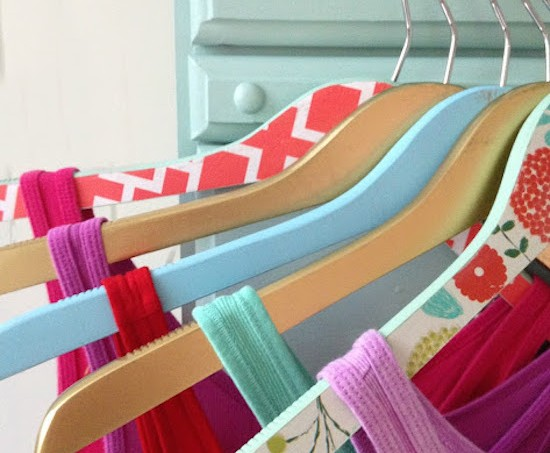 Decorate your hangers with Mod Podge
