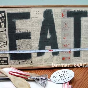 How to create a vintage decoupage sign