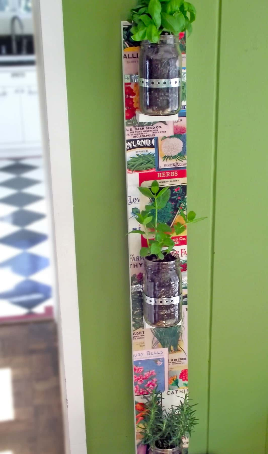 Vertical Mas Jar Herb Garden