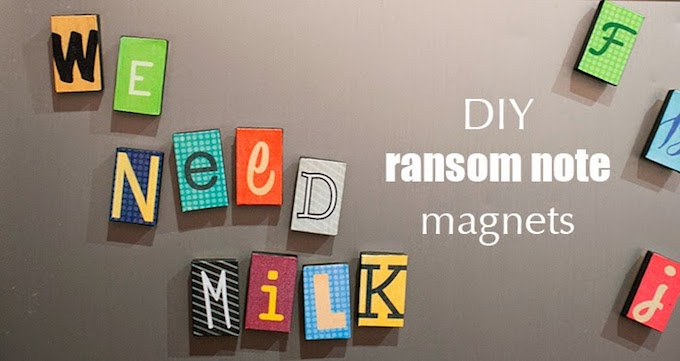 Ransom Note DIY Letter Magnets