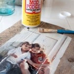 Photo transfer pallet photo frames