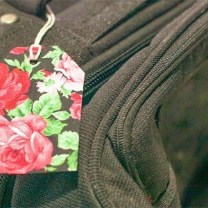 DIY luggage tag made from fabric