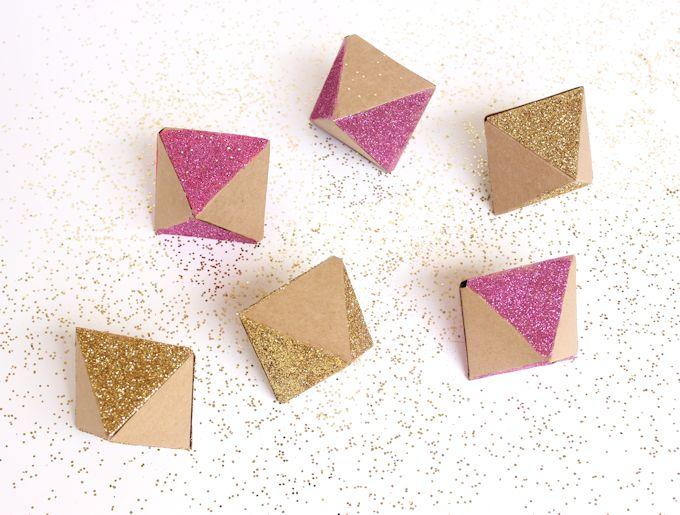 glitter kraft paper garland