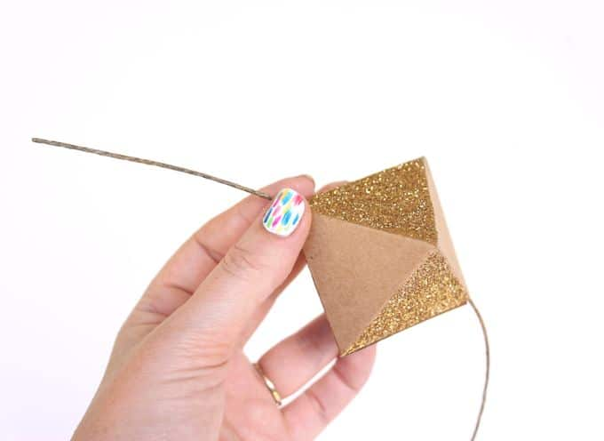 how to thread paper octahedrons