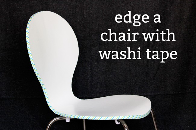 Washi tape crafts: easy edged chair