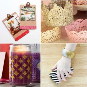 20 glitter crafts made with Mod Podge
