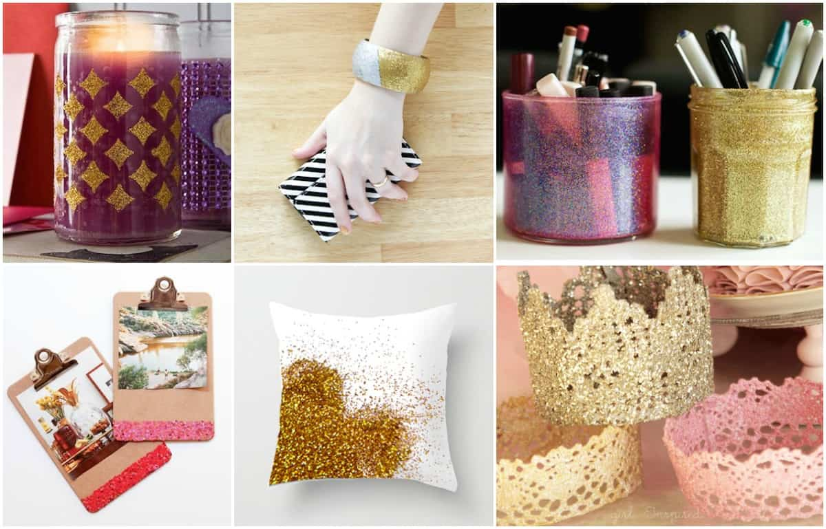 20 glitter crafts made with mod podge mod podge rocks