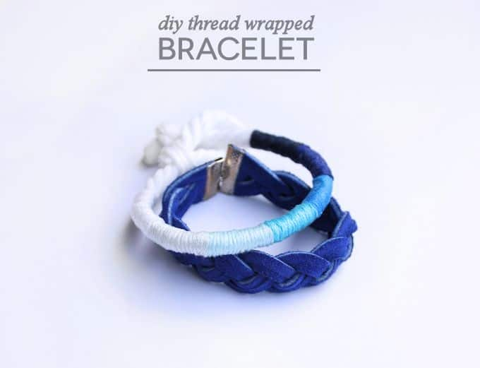 If you love ombre and shades of blue, check out this tutorial for a DIY bracelet from Rachel. It's so easy even a kid can do it!
