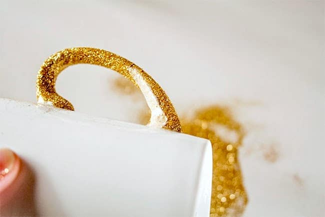 Dishwasher safe DIY glitter mug