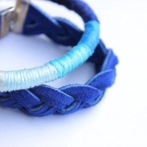 Thread wrapped DIY bracelet