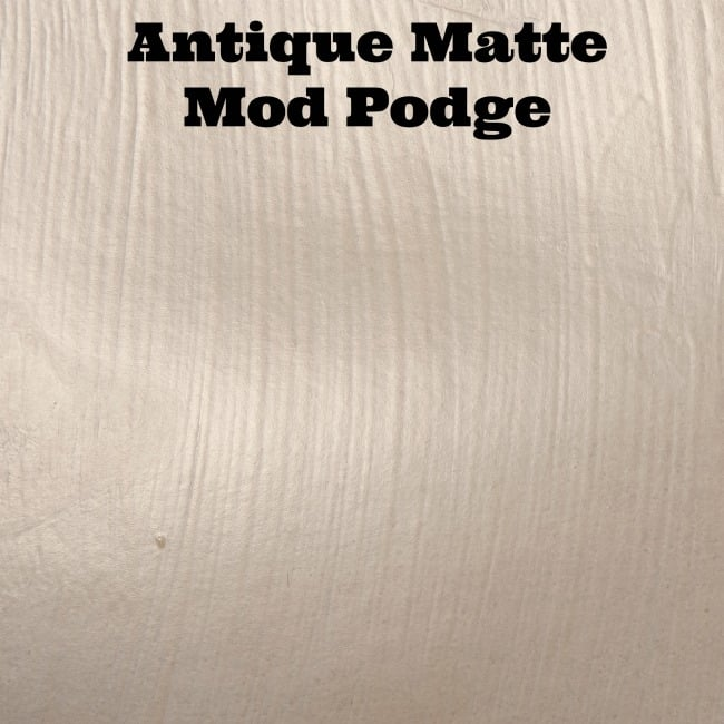 Antique Matte Mod Podge