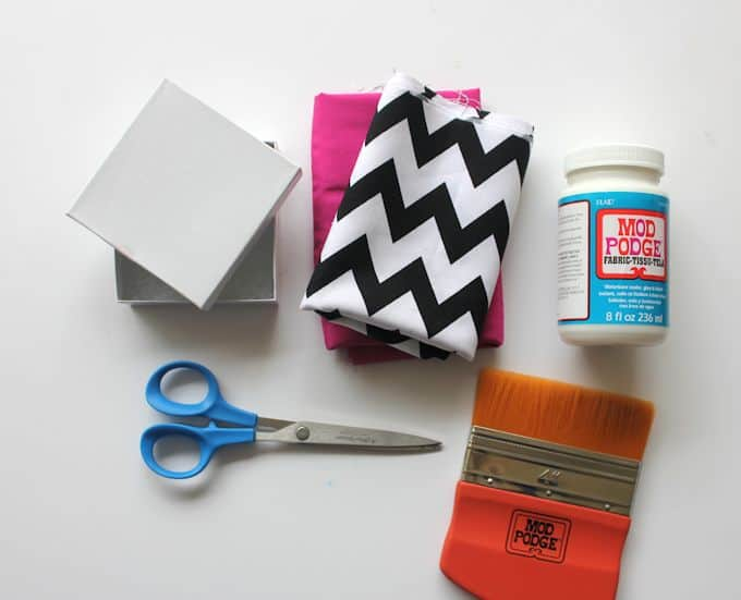 Fabric covered jewelry DIY gift boxesMod Podge Rocks