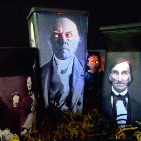 Last minute Halloween decor - spooky luminaries