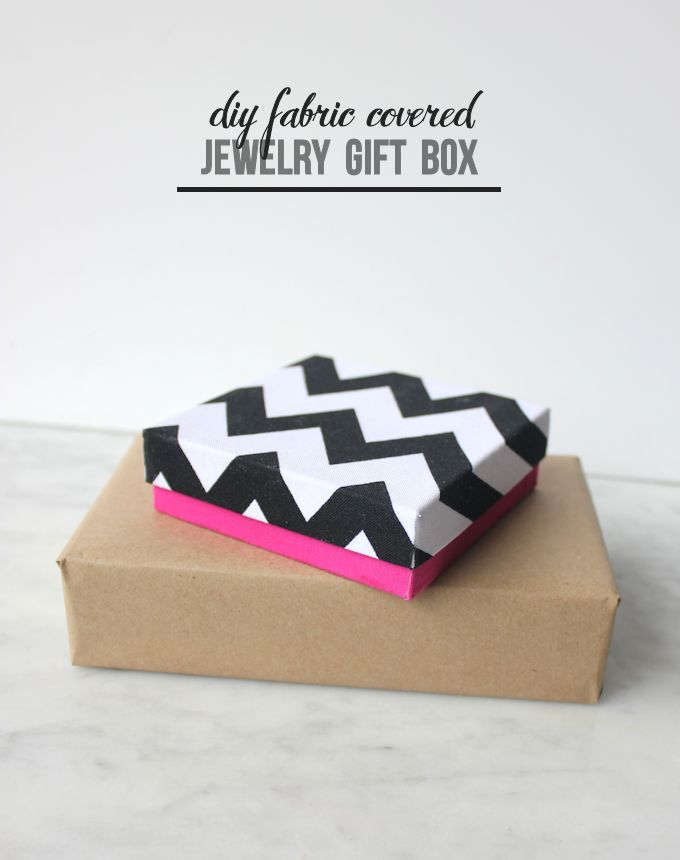 Fabric covered jewelry DIY gift boxes Mod Podge Rocks