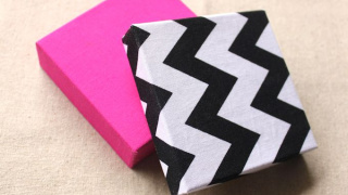 Fabric Covered Jewelry DIY Gift Boxes