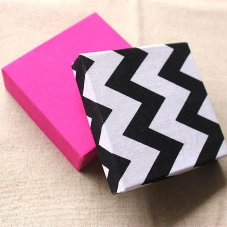 Fabric covered jewelry DIY gift boxes made with Mod Podge