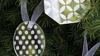 Simple DIY Glittered Mirror Ornaments