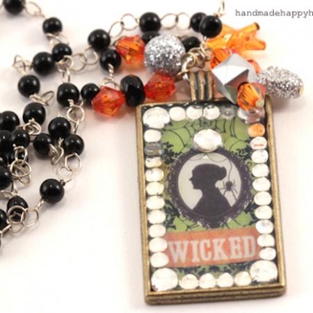 wicked Mod Podge Necklace Halloween Walmart