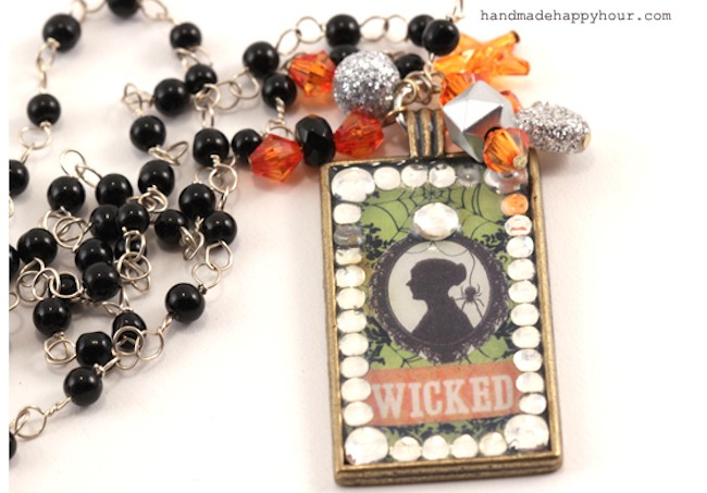 wicked Mod Podge Necklace Halloween Walmart